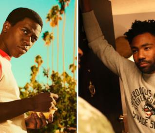 A sinistra una immagine della serie TV Snowfall e a destra una dalla serie Atlanta