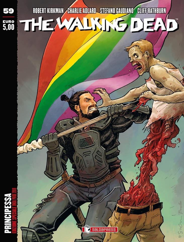 La variant cover di The Walking Dead 59 dedicata al Pride
