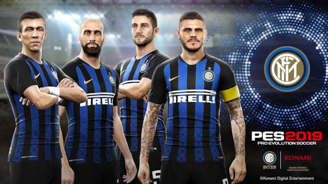 I giocatori dell'Inter in PES 2019