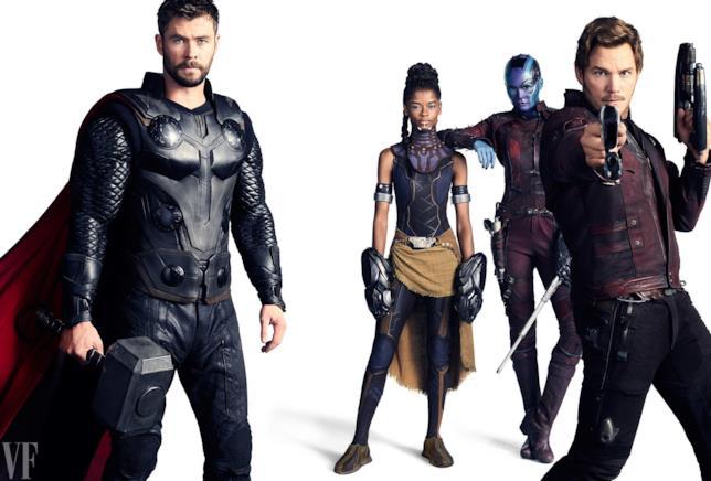 Da Chris Hemsworth a Chris Pratt, i supereroi Marvel immortalati da Vanity Fair
