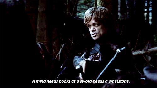 Tyrion Lannister è un accanito lettore