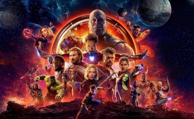 Poster promozionale di Avengers: Infinity War
