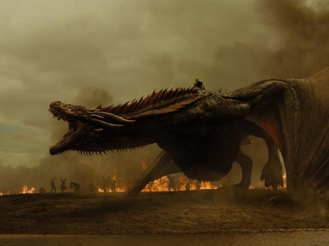 Daenerys in groppa a Drogon