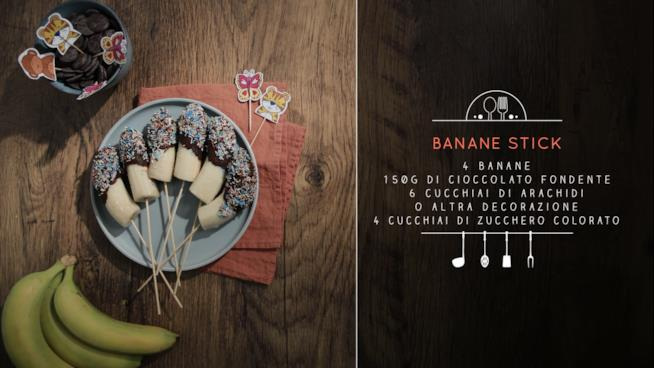 La ricetta delle banane stick