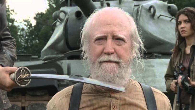 The Walking Dead: Hershel poco prima di morire