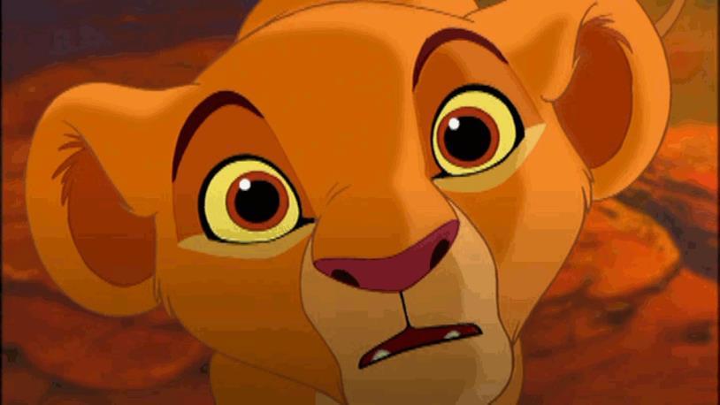 Primo piano di Simba ne Il Re Leone
