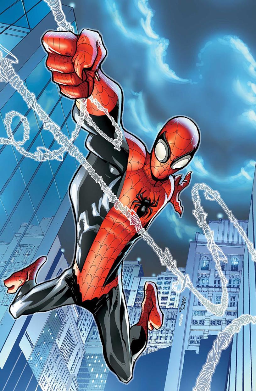 Spider-Man in una pagina della serie The Superior Spider-Man