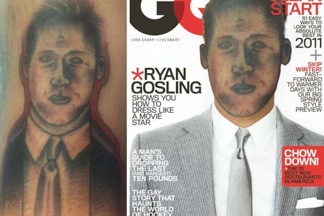 Tatuaggi brutti con lo face-swap: Ryan Gosling