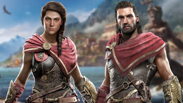 I protagonisti di Assassin's Creed: Odyssey, Kassandra e Alexios
