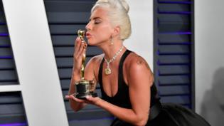 La star Lady Gaga agli Oscar 2019