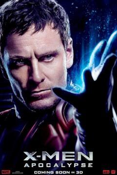 Un poster del film con il primo piano di Magneto