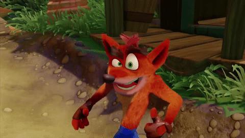 Il simpatico faccione di Crash Bandicoot