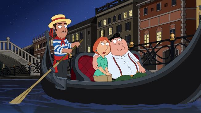 Lois e Peter Griffin a Venezia