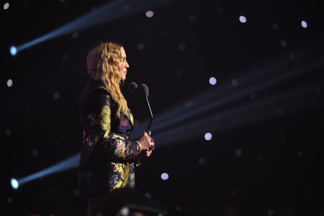 Madonna durante la consegna dei Billboard