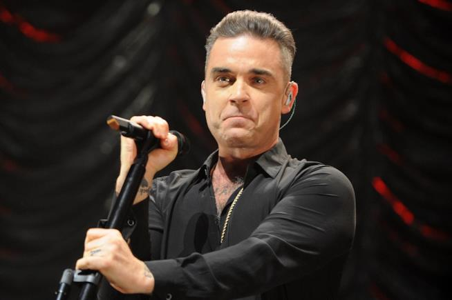Primo piano di Robbie Williams