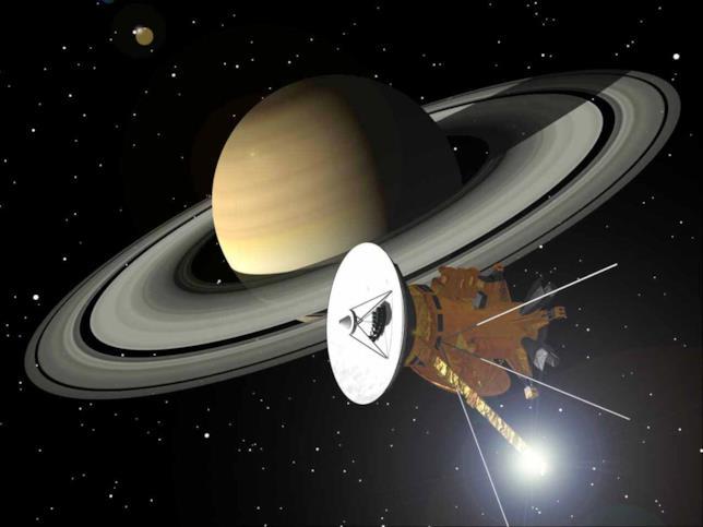 Una rappresentazione della sonda Cassini