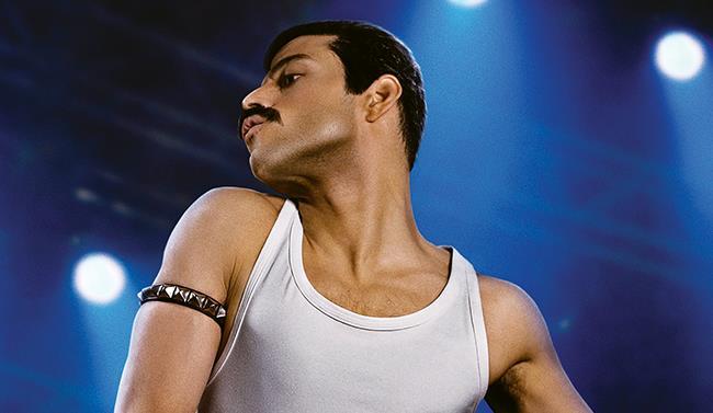 Rami Malek nei panni di Freddie Mercury per il fim Bohemian Rhapsody
