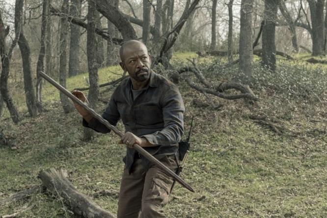 Morgan in una delle immagini della Stagione 5 di Fear The Walking Dead