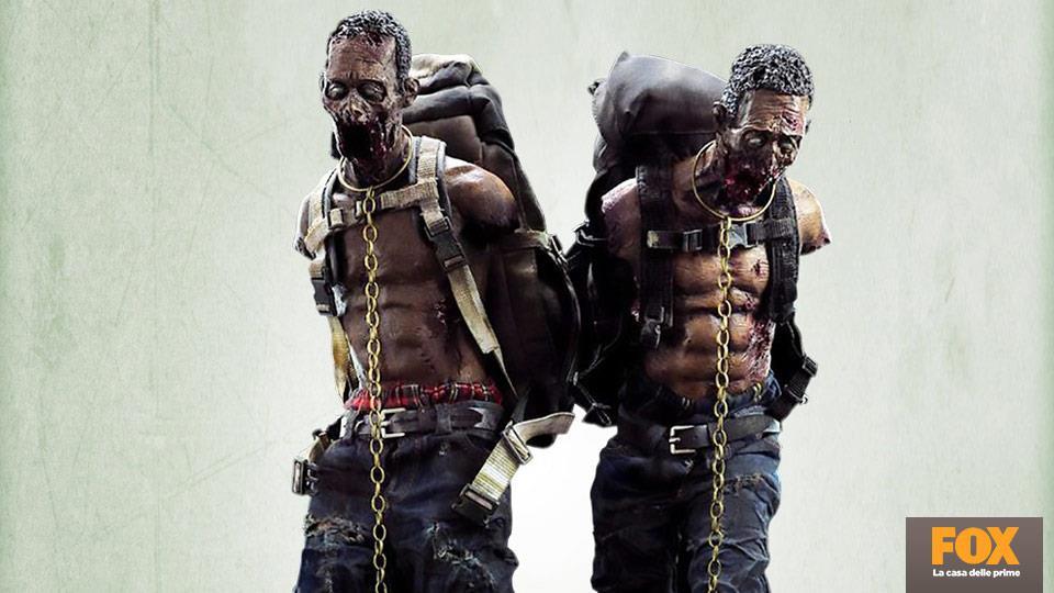 """Action figures degli """"zombie da compagnia"""" di Michonne, 108.99€."""