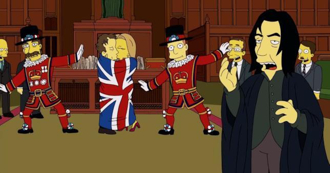 David Bowie e Alan Rickman, celebrati dai Simpson a pochi giorni dalla loro scomparsa.