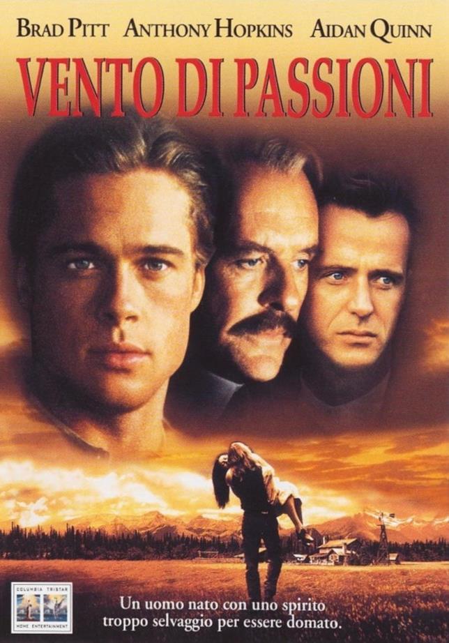 La locandina del film Vento di Passioni con Brad Pitt e Anthony Hopkins