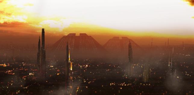 Il futuristico skyline di Los Angeles nella pellicola di Ridley Scott