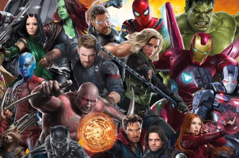 Immagine promozionale con molti personaggi del Marvel Cinematic Universe