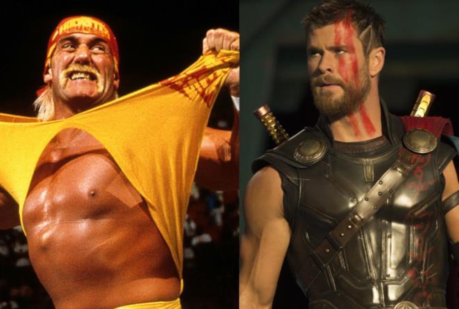 Hulk Hogan e Chris Hemsworth nella cover