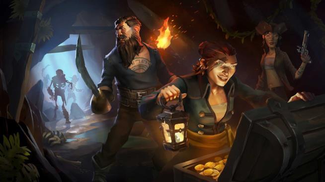 A caccia di tesori in Sea of Thieves