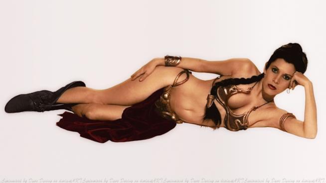 Carrie Fisher e il bikini della Principessa Leia