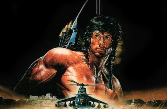 Il poster promozionale di Rambo III