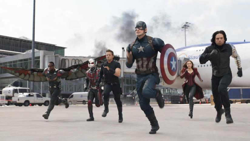 i componenti del Team Cap in Captain America: Civil War