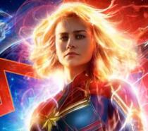 L'attrice Brie Larson interprete della supereroina Captain Marvel
