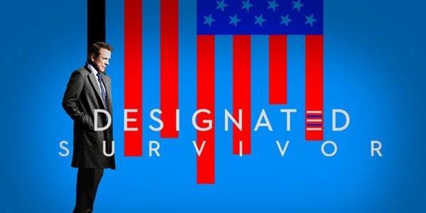 Il poster della prima stagione di Designated Survivor con Kiefer Sutherland