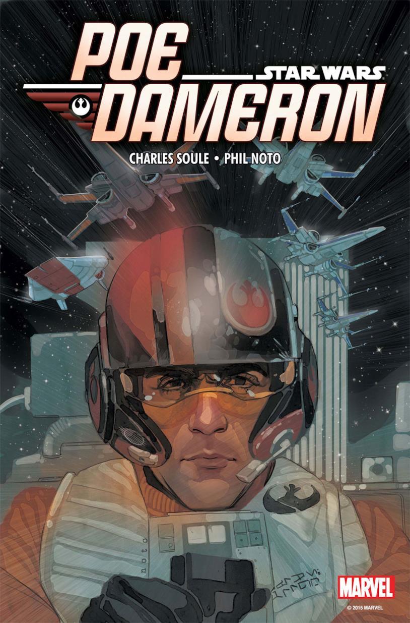 Cover della serie a fumetti Marvel su Poe Dameron