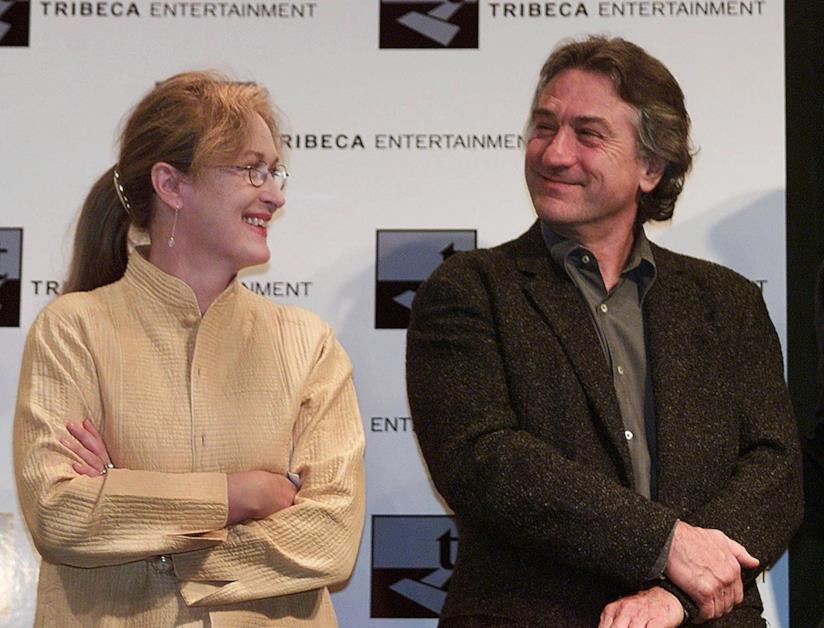 Primo piano di Robert De Niro e Meryl Streep