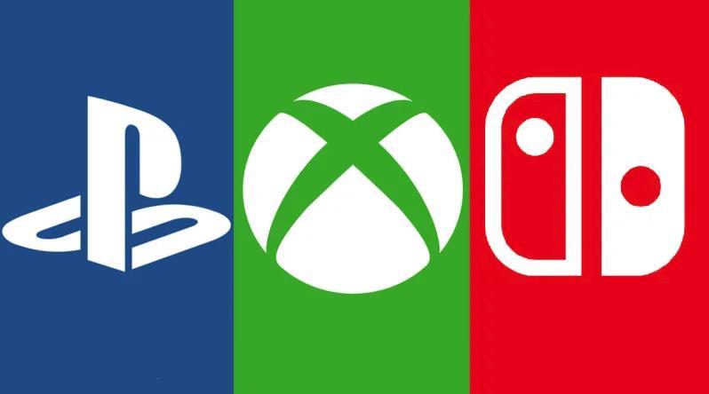 I loghi di PlayStation, Xbox e Switch