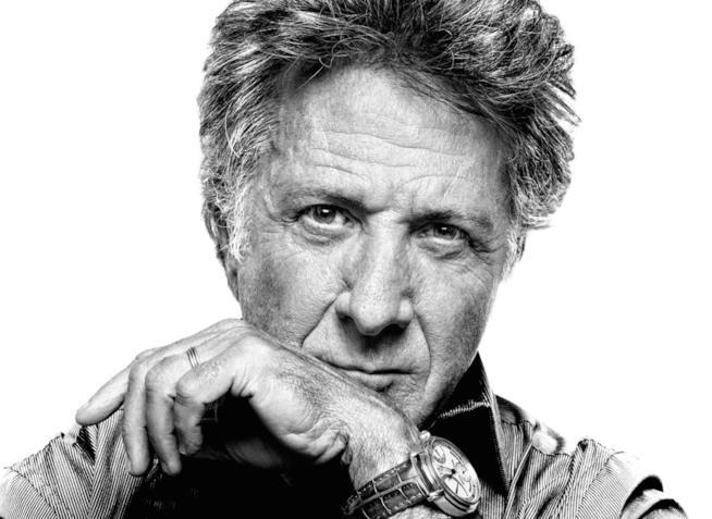 L'attore Dustin Hoffman in uno scatto suggestivo