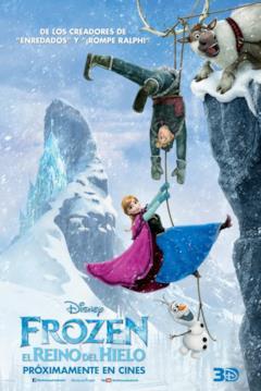 Anna e Kristoff nel poster spagnolo per Frozen