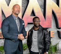 The Rock e Kevin Hart alla prima di Jumanji 2