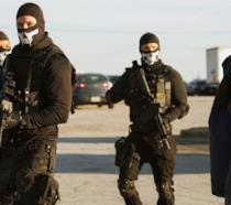 Una scena de La tana dei lupi, il gangster movie con Gerard Butler