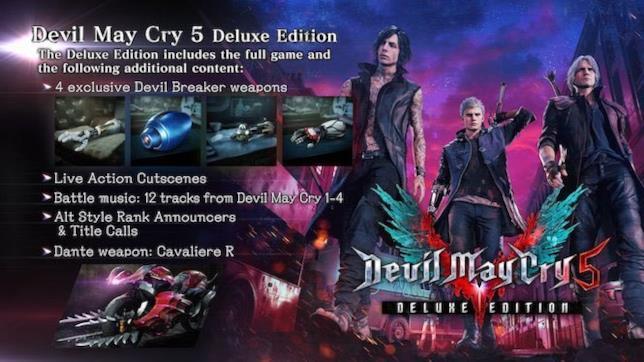 I contenuti della versione Deluxe di Devil May Cry 5