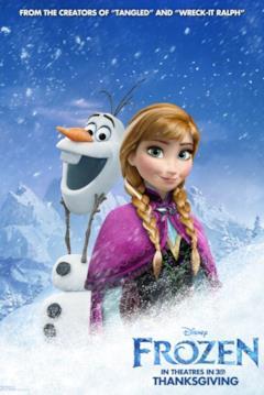 Anna e Olaf nel character poster di Frozen