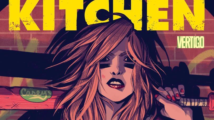 Primo piano di una delle donne protagoniste di Kitchen, nel disegno di copertina del fumetto DC Comics/Vertigo