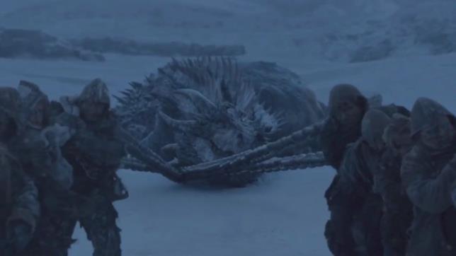 Un'immagine di Game of Thrones con al centro Viserion