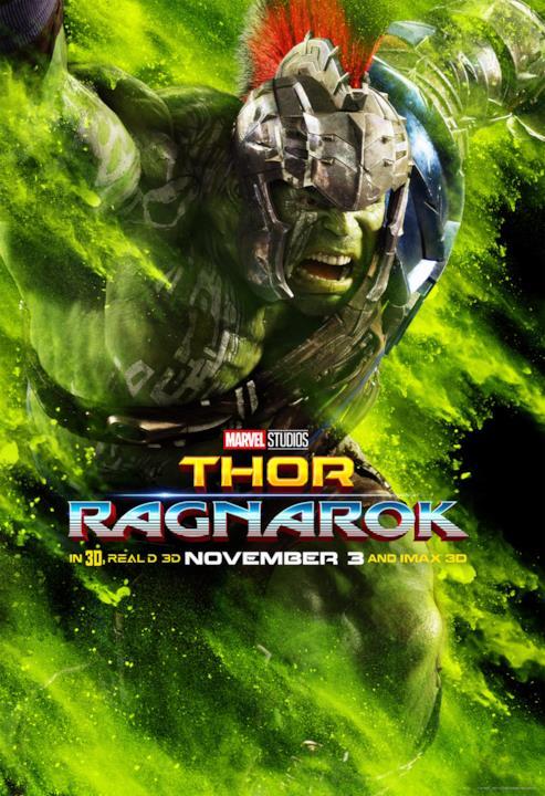 Mark Ruffalo come Hulk nel poster con sfondo verde