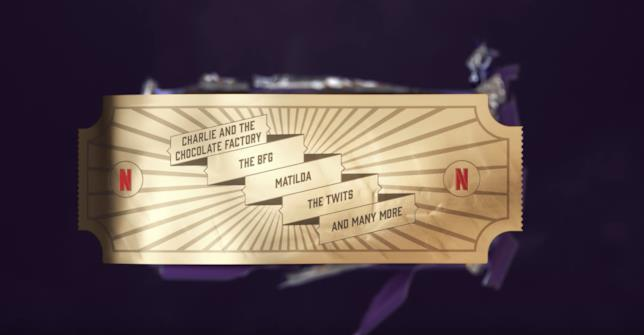 La promozione Netflix sulle serie su Roald Dahl