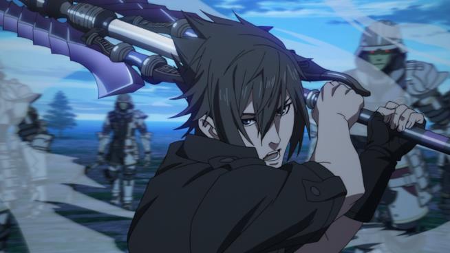 Noctis è pronto a colpire con la sua spada nell'anime di Final Fantasy XV