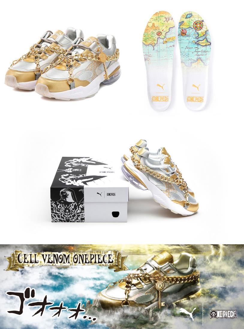 Le scarpe della collaborazione tra One Piece e Puma