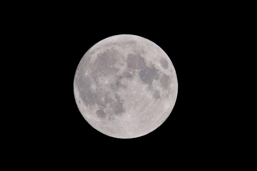 Una meravigliosa foto della Luna